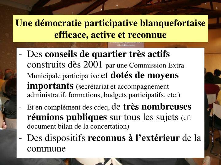 Une démocratie participative blanquefortaise
