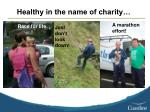 healthy in the name of charity