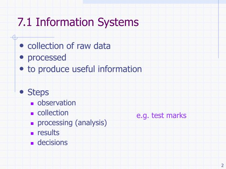7 1 information systems
