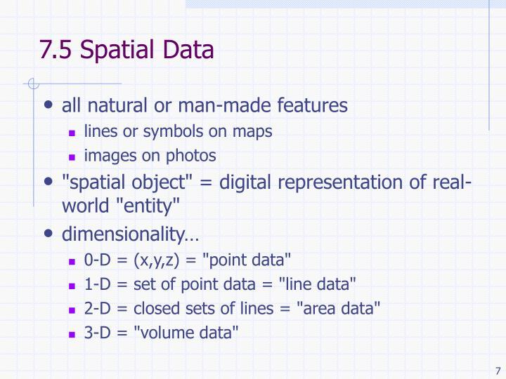 7.5 Spatial Data