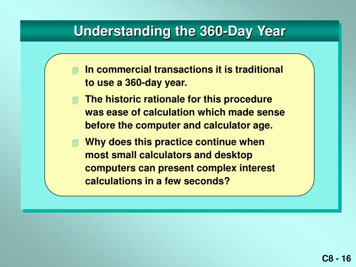 Understanding the 360-Day Year