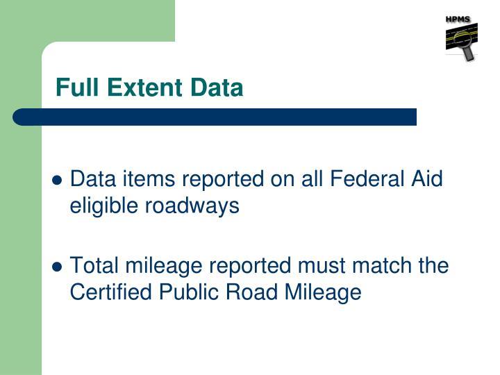 Full Extent Data
