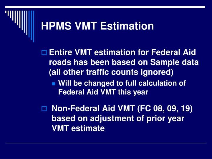HPMS VMT Estimation