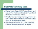 statewide summary data1