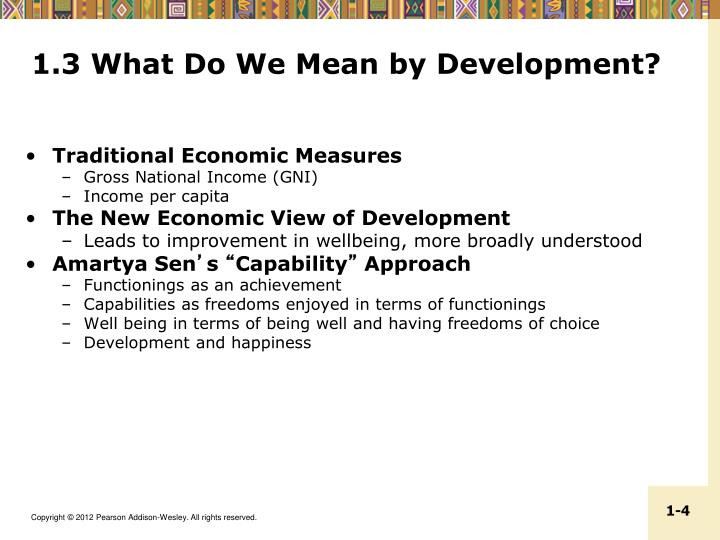 1.3 What Do We Mean by Development?