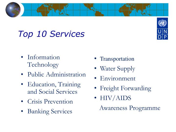Top 10 Services