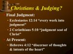 christians judging