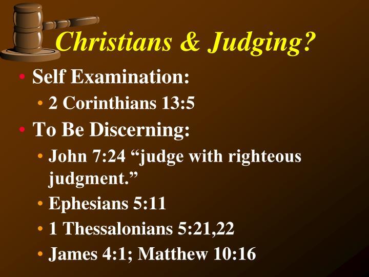 Christians & Judging?