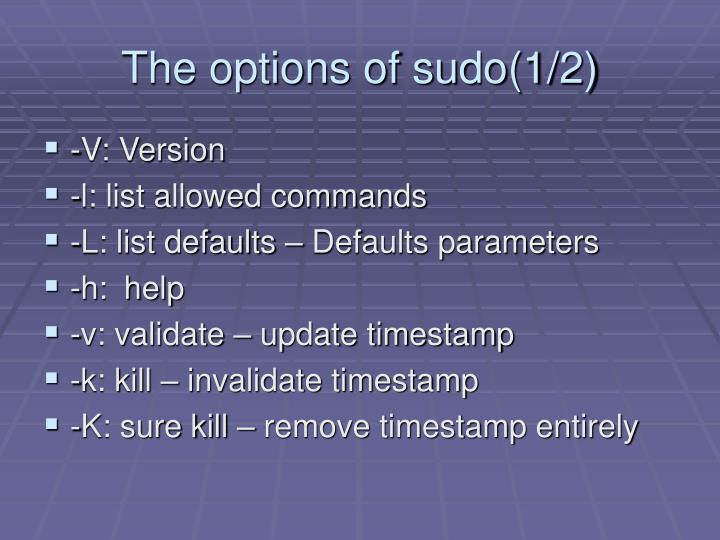 The options of sudo(1/2)
