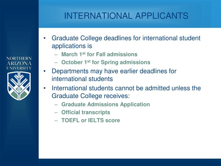 INTERNATIONAL APPLICANTS
