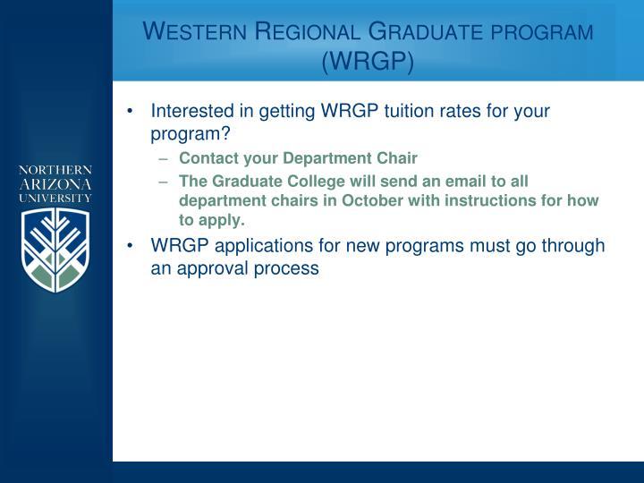 Western Regional Graduate program (WRGP)