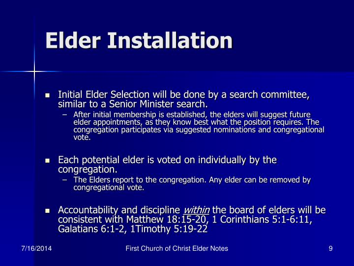Elder Installation