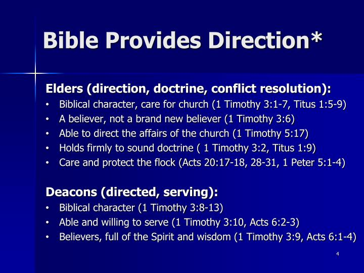 Bible Provides