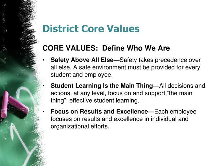 District Core Values