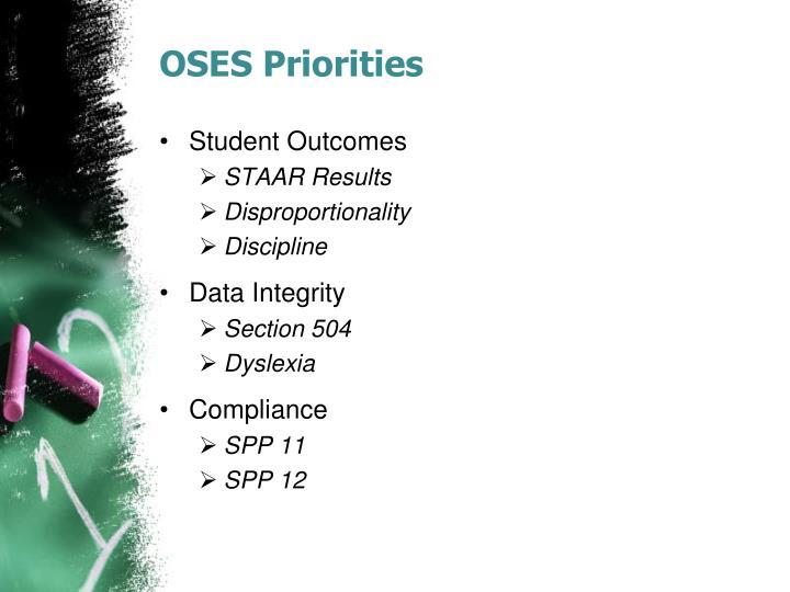 OSES Priorities