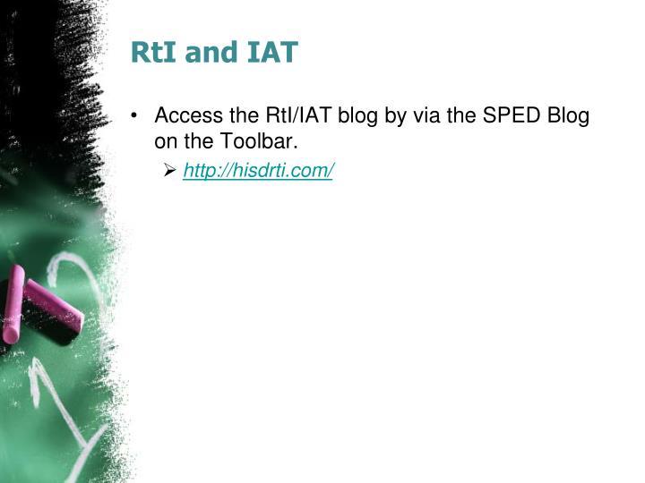 RtI and IAT