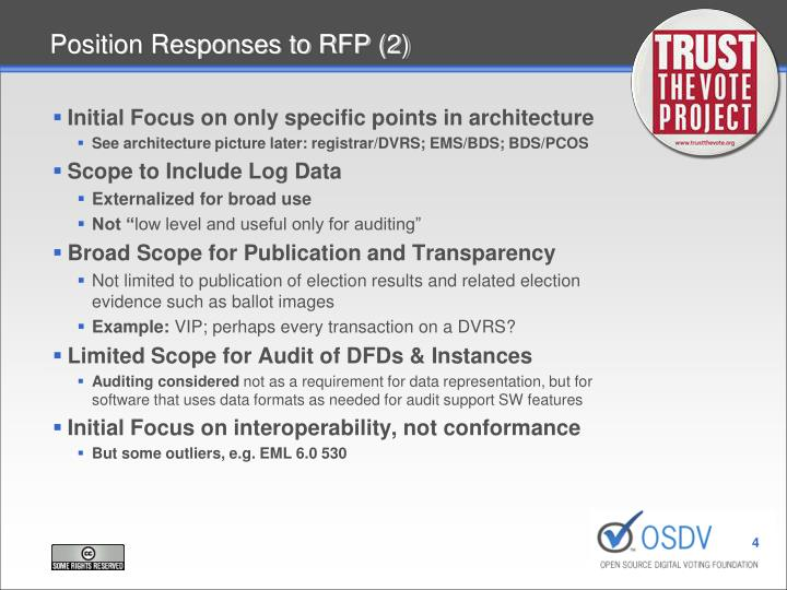 Position Responses to RFP (2)
