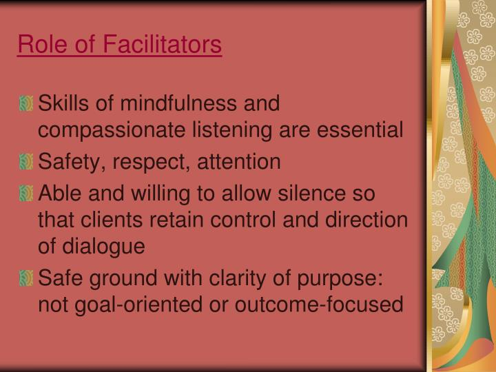 Role of Facilitators