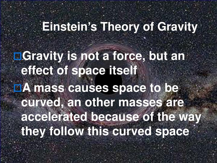 Einstein's Theory of Gravity