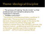 theme ideological discipline