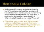 theme social exclusion