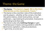 theme the game