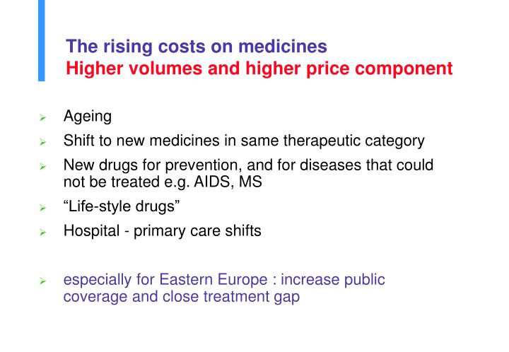 The rising costs on medicines