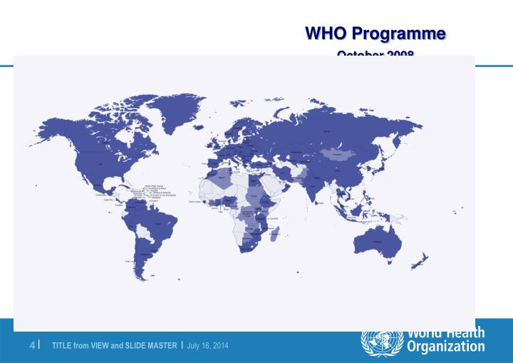 WHO Programme