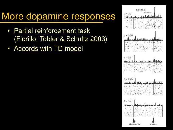 More dopamine responses