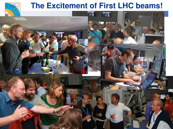 The Excitement of First LHC beams!