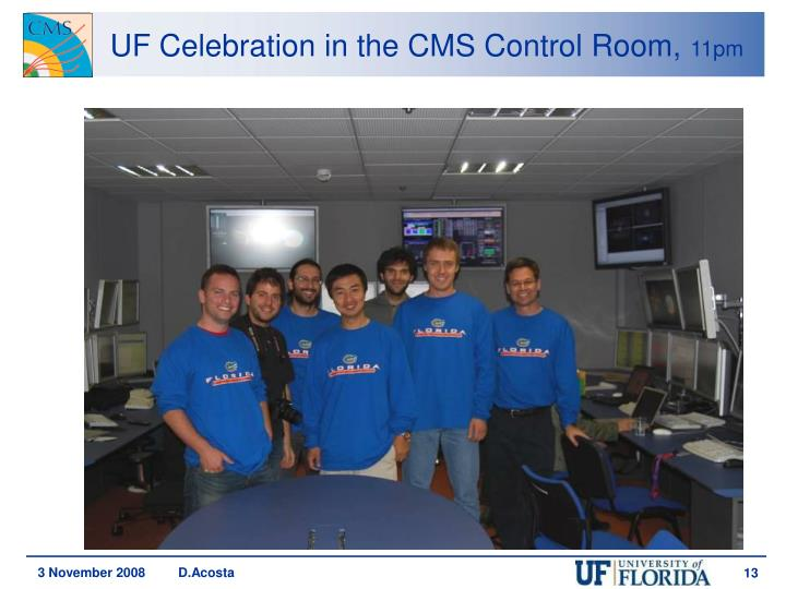 UF Celebration in the CMS Control Room,