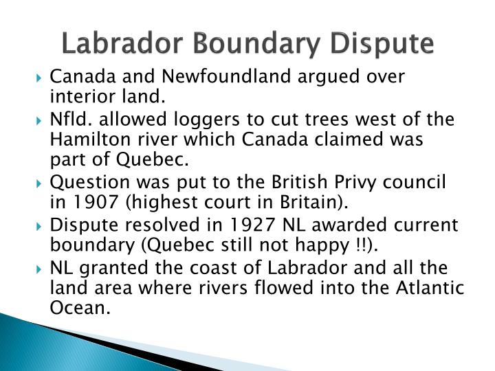 Labrador Boundary Dispute