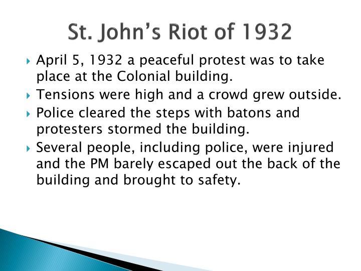 St. John's Riot of 1932