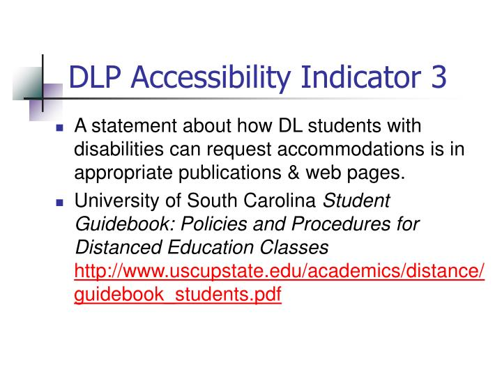 DLP Accessibility Indicator 3
