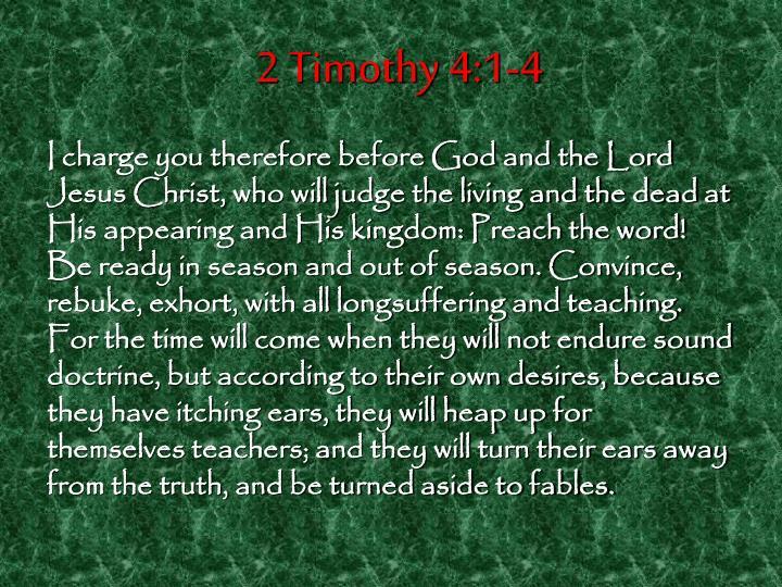 2 Timothy 4:1-4