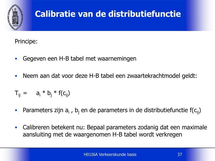 Calibratie van de distributiefunctie