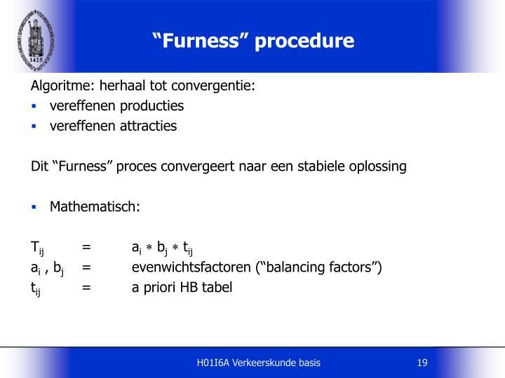 """""""Furness"""" procedure"""
