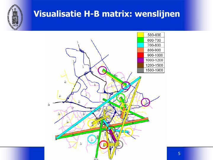 Visualisatie H-B matrix: wenslijnen