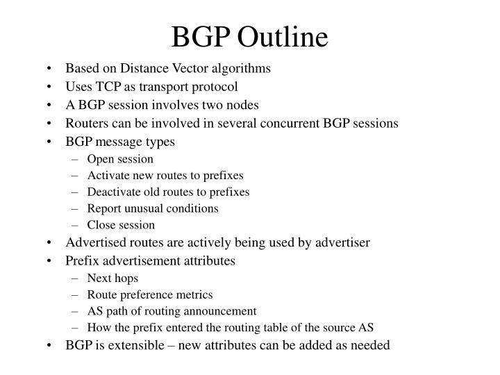 BGP Outline