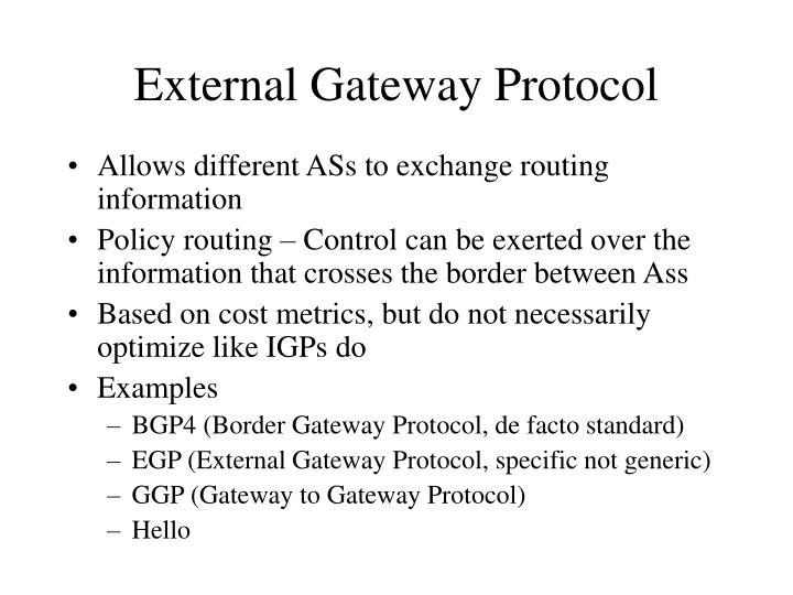 External Gateway Protocol