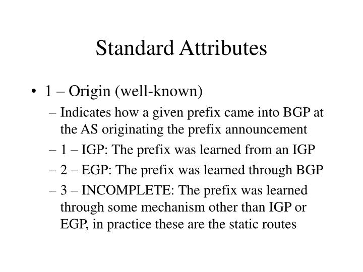 Standard Attributes