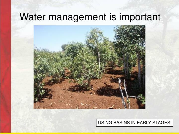 Water management is important