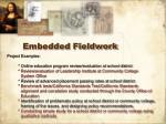 embedded fieldwork