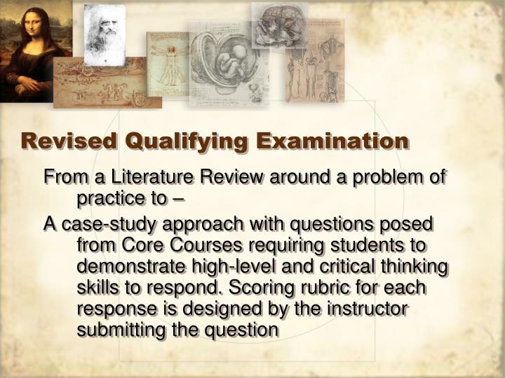 Revised Qualifying Examination