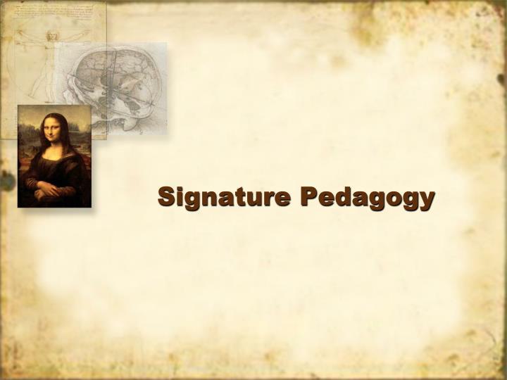 Signature Pedagogy