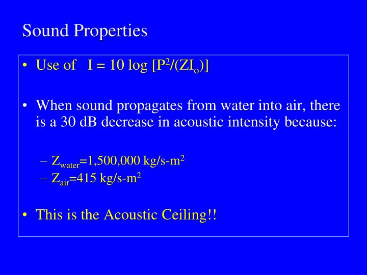 Sound Properties