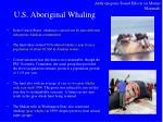 u s aboriginal whaling