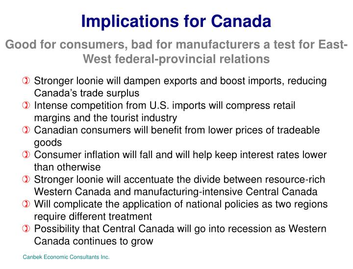 Implications for Canada