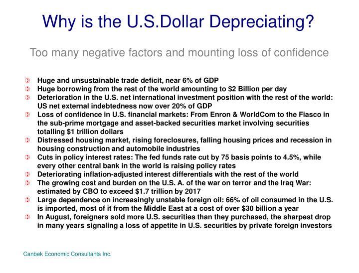 Why is the U.S.Dollar Depreciating?