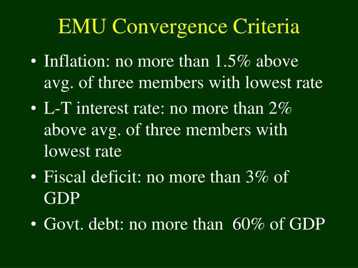 EMU Convergence Criteria